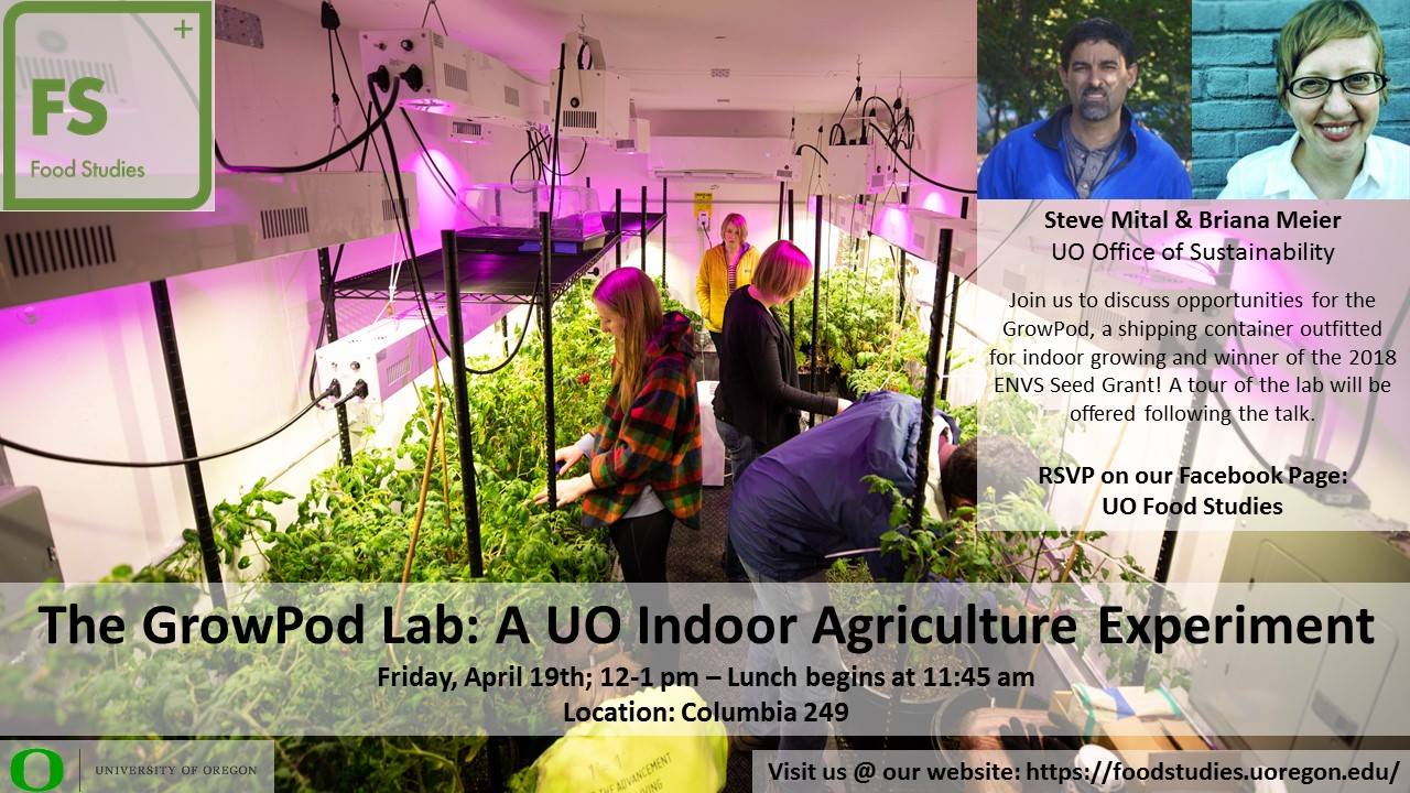 Food Studies Lunch Event Grow Pod Lab Flyer