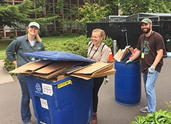 Zero Waste crew during move-outs