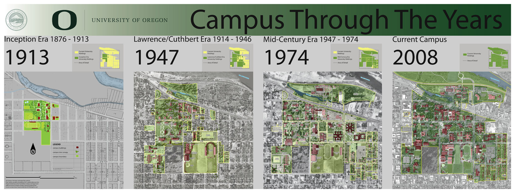 Campus Through The Years - Progression Poster