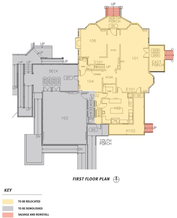 Collier House Relocation Diagram