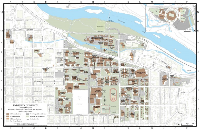 UO Campus Map
