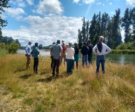2019-20 Sustainability Fellows visit Green Island, learning from McKenzie River Trust Executive Director Joe Moll