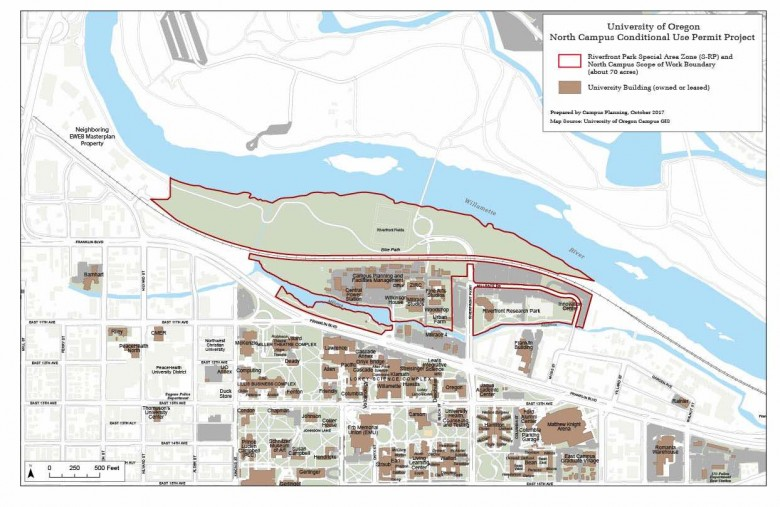North Campus Conditional Use Permit Map
