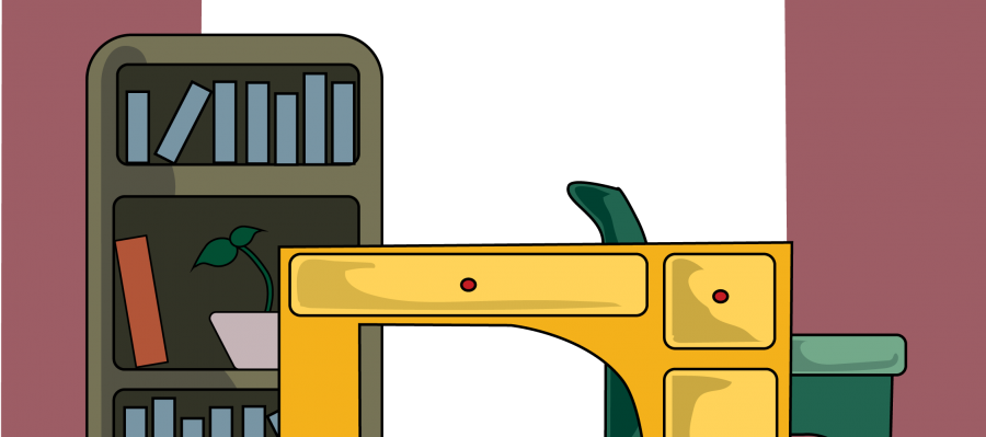 Graphical image of office furniture
